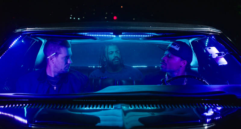 Rafael Casal as Miles, Daveed Diggs as Collin and Jon Chaffin as Dez in 'Blindspotting.'