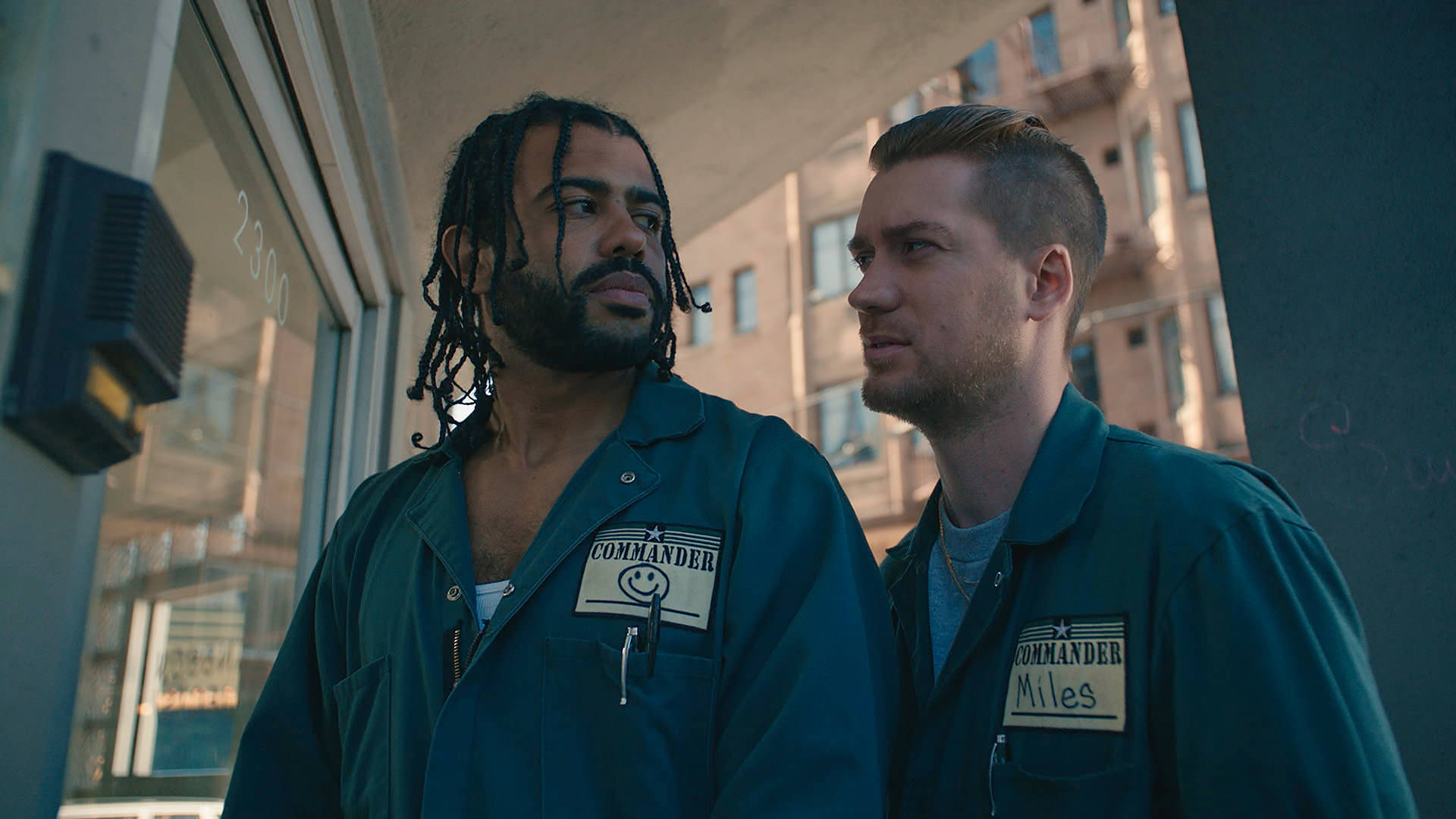 Diggs and Casal play best friends who work together as movers in 'Blindspotting.' Ariel Nava