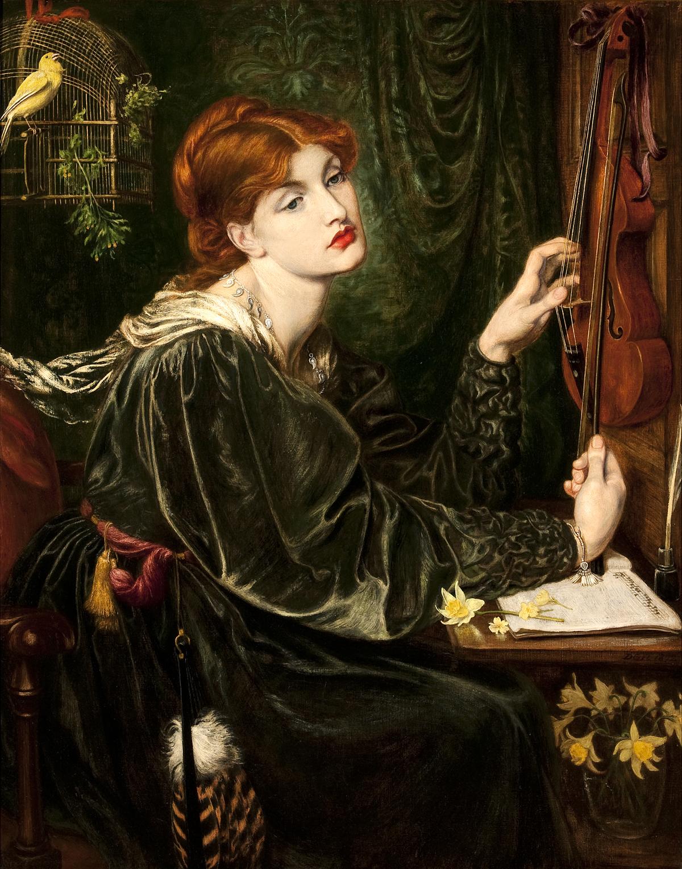 Dante Gabriel Rossetti, 'Veronica Veronese,' 1872.