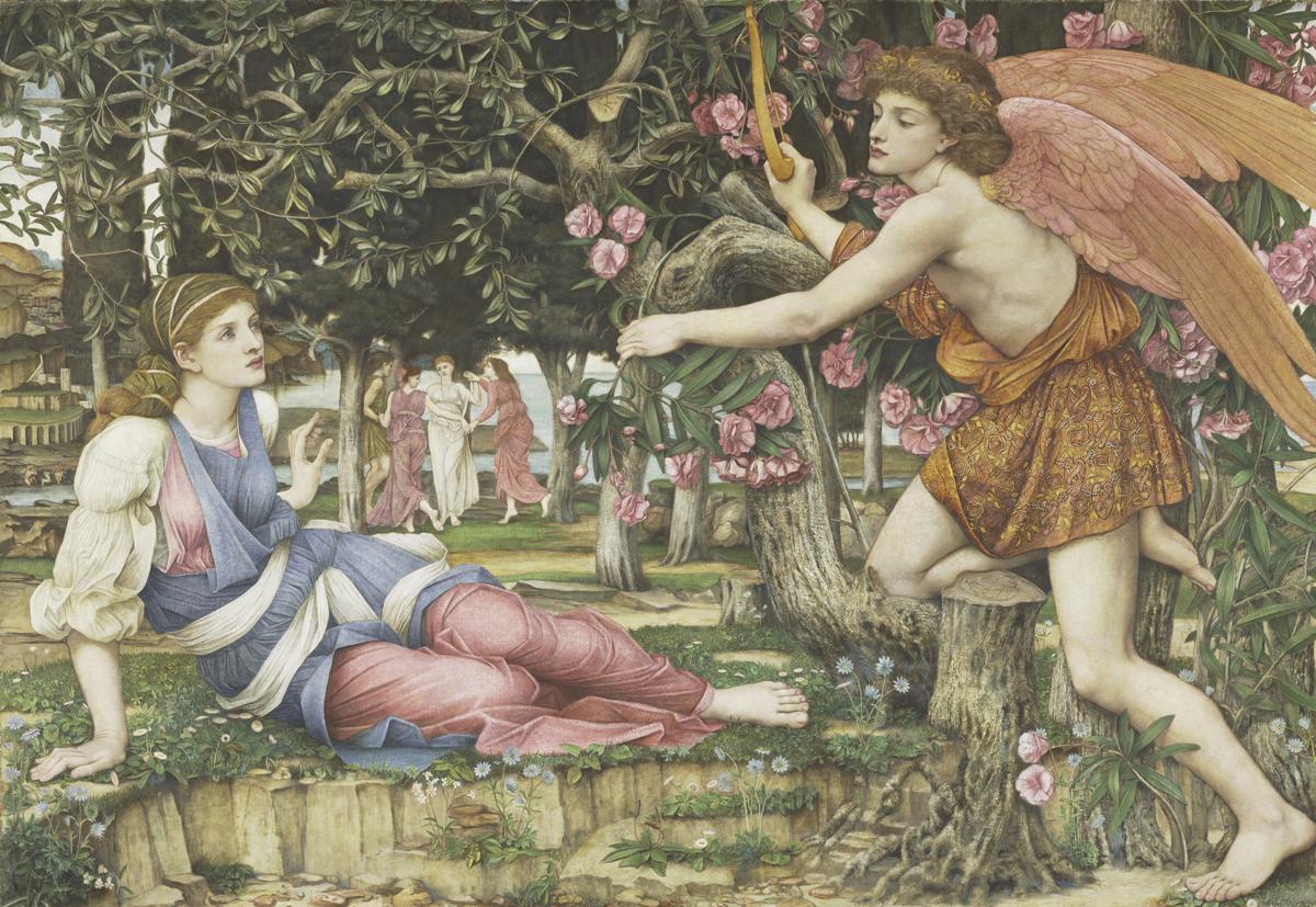 John Roddam Spencer Stanhope, 'Love and the Maiden,' 1877.