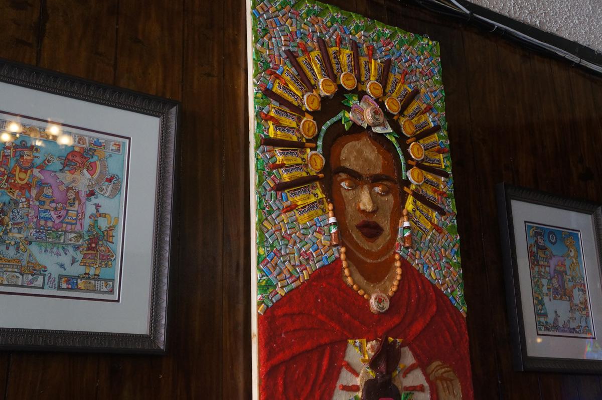 A view of Ruben Dario Villa's 'Mi Dulce Frida' at Puerto Alegre.