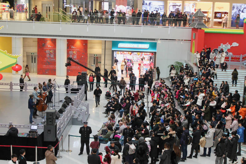 The Brothers Comatose perform at the Shenyang Mall.