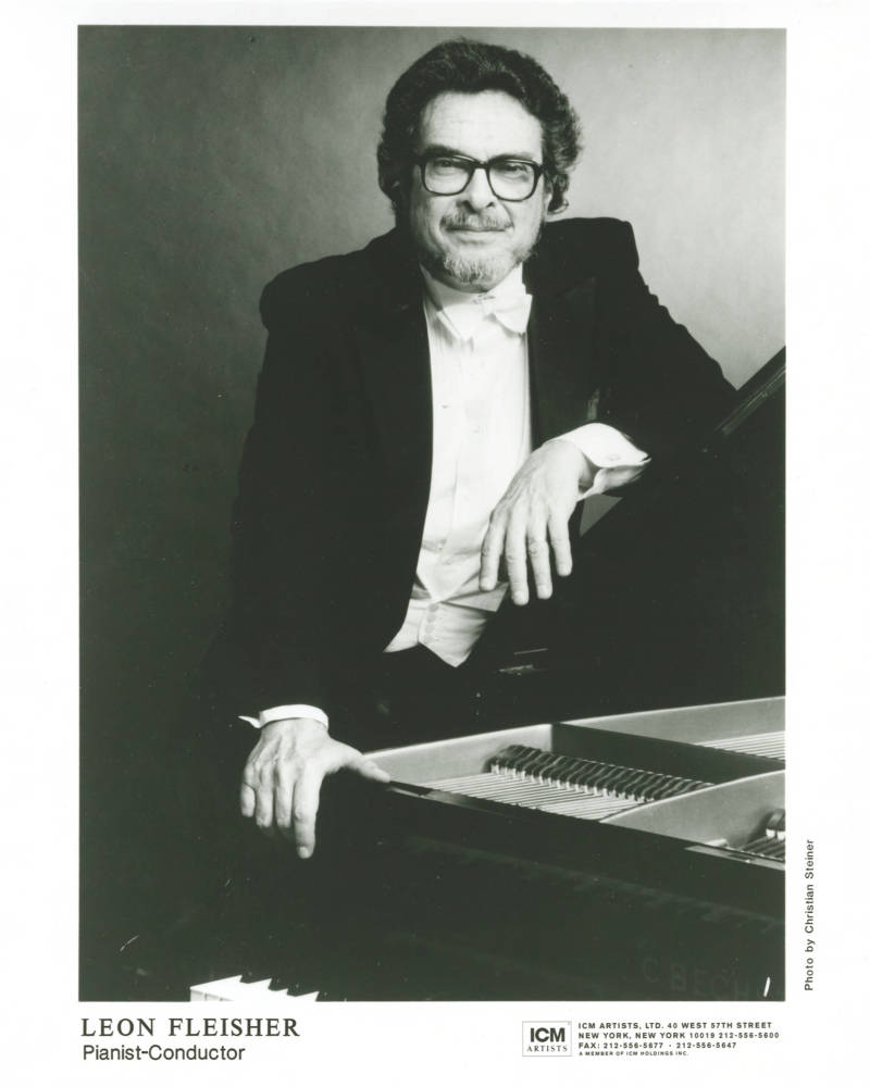 Leon Fleisher, conductor and pianist.