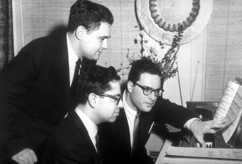 Leon Fleisher with fellow pianists Gary Graffman and Eugene Istomin.