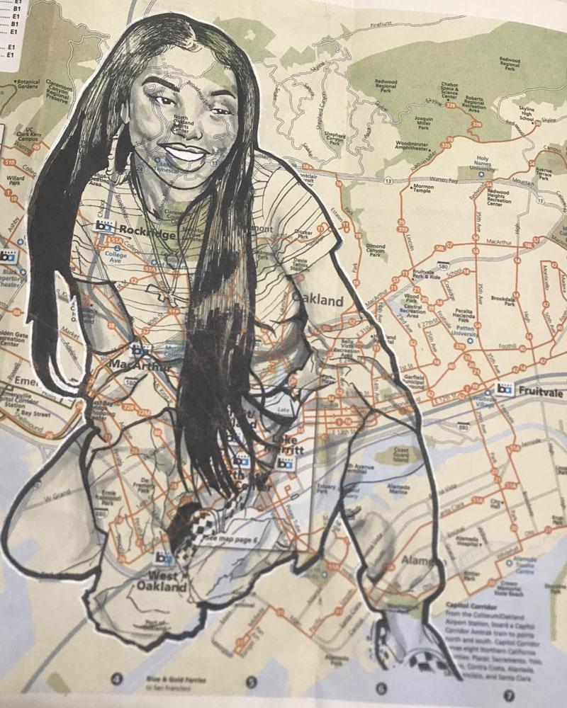'Nia Wilson' by Jay Pee (@paintpimp215)
