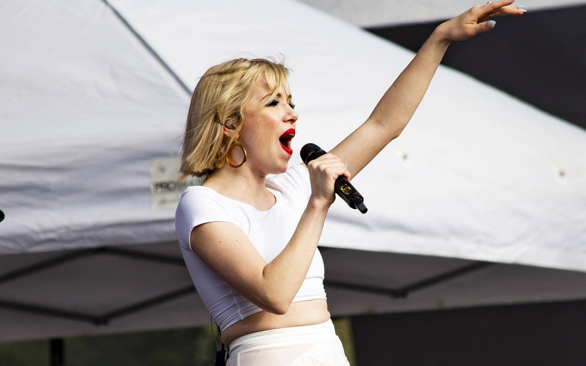 Carly Rae Jepsen, an outspoken ally for LGBTQ issues, performs Friday, Aug. 10, at Outside Lands in San Francisco. Jepsen's set punctuated a noticably queer-friendly vibe at this year's edition of the huge music festival. Estefany Gonzales