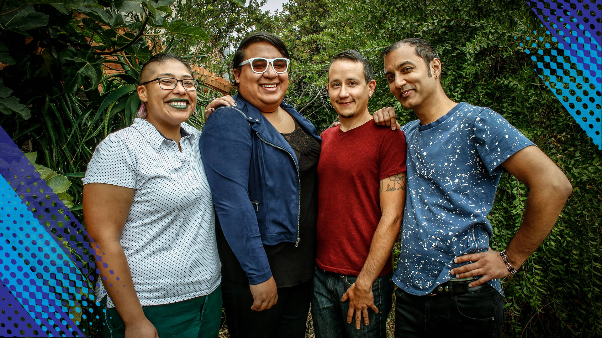 Kathrin Canton, Lexi Adsit, Q Quintero and Devi Peacock (L to R), plus Luna Merbruja (not pictured) are the core leadership of Peacock Rebellion.  Jean Melesaine