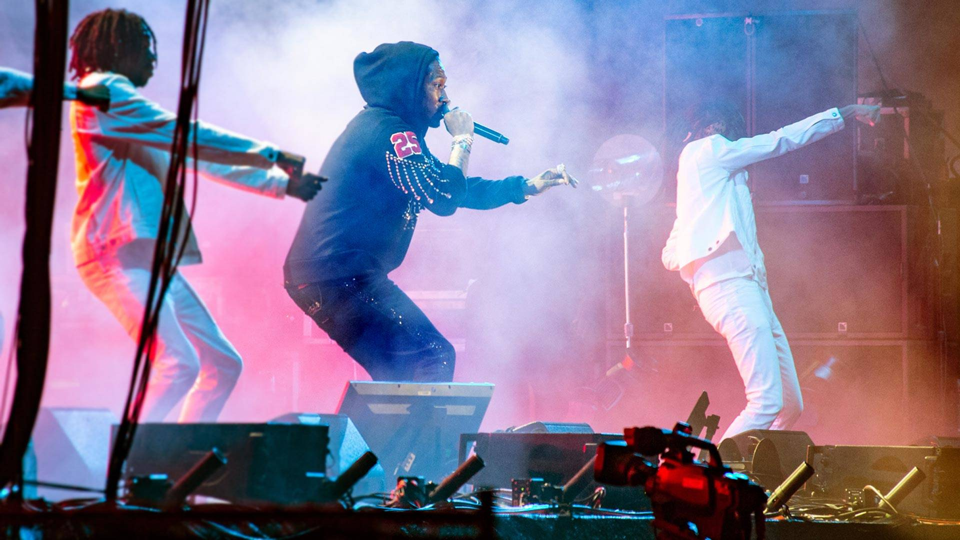 Future performs at Outside Lands music festival in San Francisco, Aug. 11, 2018. Estefany Gonzalez