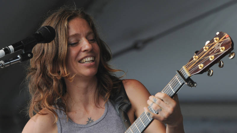 Ani DiFranco performs during the 2012 New Orleans Jazz & Heritage Festival on May 3, 2012 in New Orleans, Louisiana.