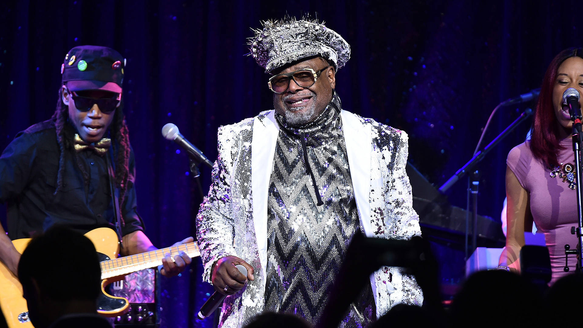 George Clinton performs at the 2017 SESAC Pop Awards on April 13, 2017 in New York City.  Theo Wargo/Getty Images for SESAC