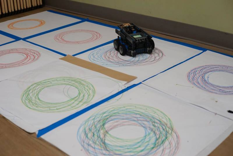 "A ""drawbot"" created by 13-year-old Solyana Beyene."