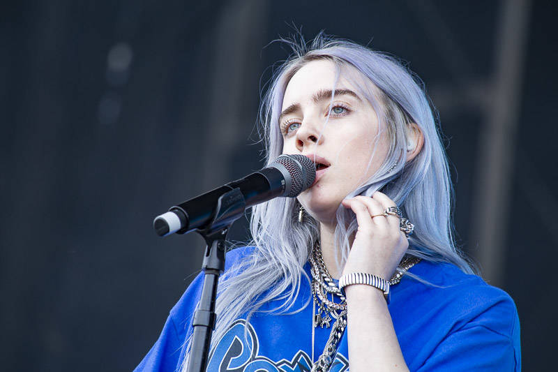 Billie Eilish performs at the at Outside Lands music festival in San Francisco, Aug. 10, 2018.