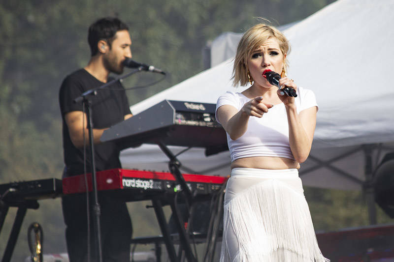 Carly Rae Jepsen performs at the at Outside Lands music festival in San Francisco, Aug. 10, 2018.