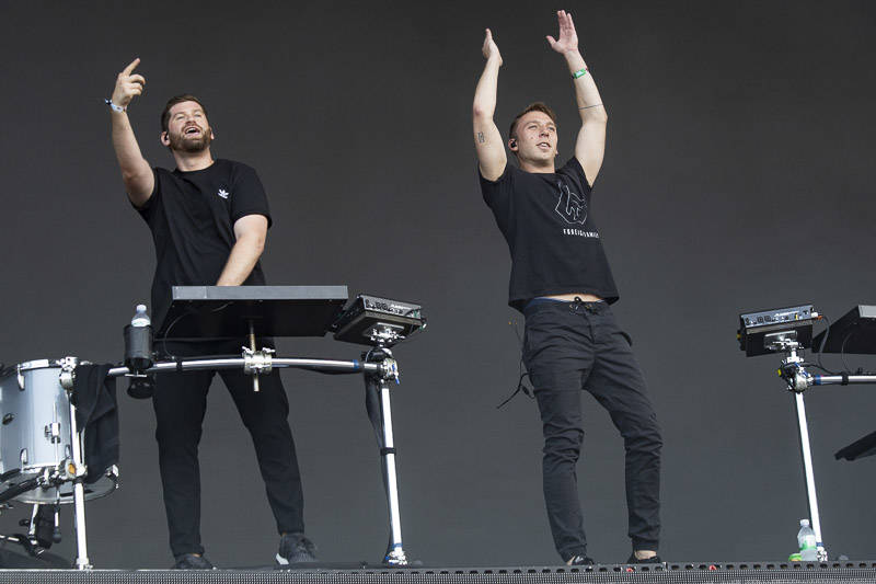 ODESZA performs at the at Outside Lands music festival in San Francisco, Aug. 10, 2018.