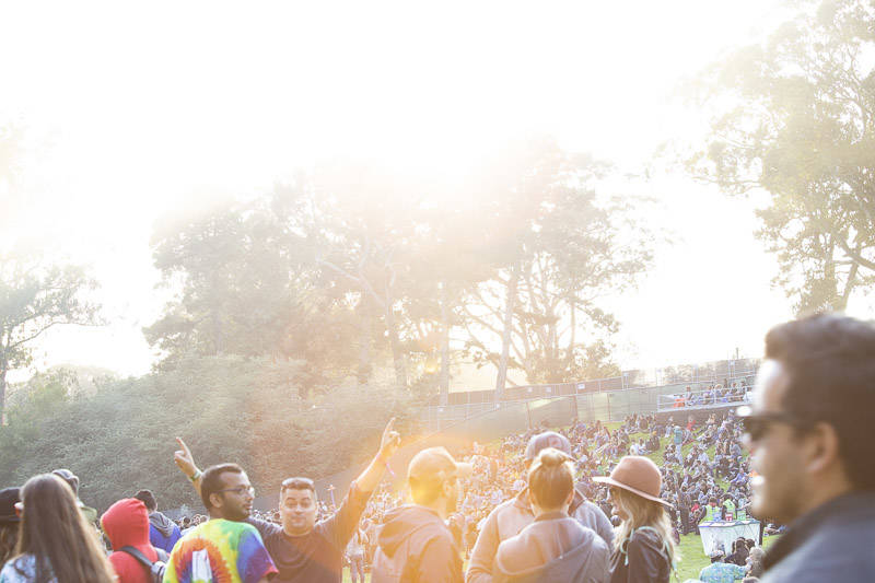 The crowd at Outside Lands music festival in San Francisco, Aug. 10, 2018.