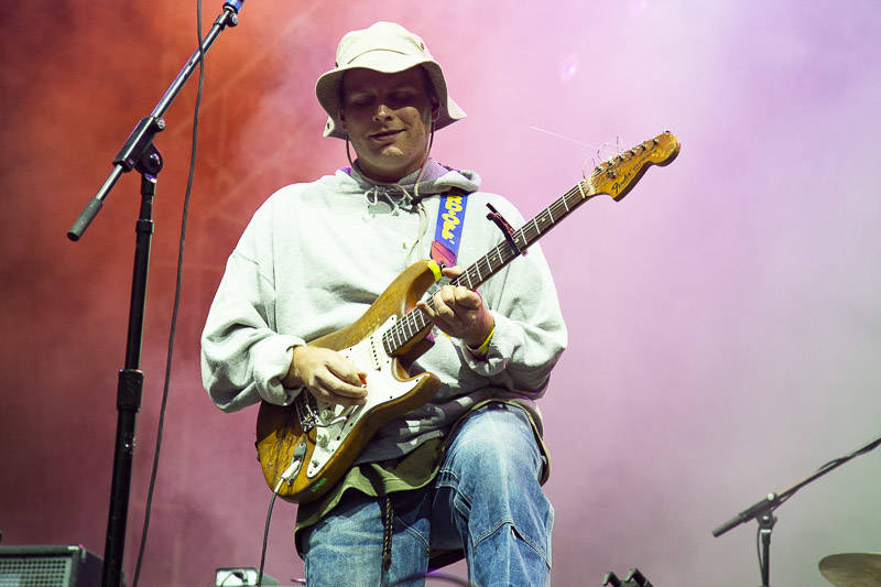 Mac DeMarco performs at the at Outside Lands music festival in San Francisco, Aug. 10, 2018.