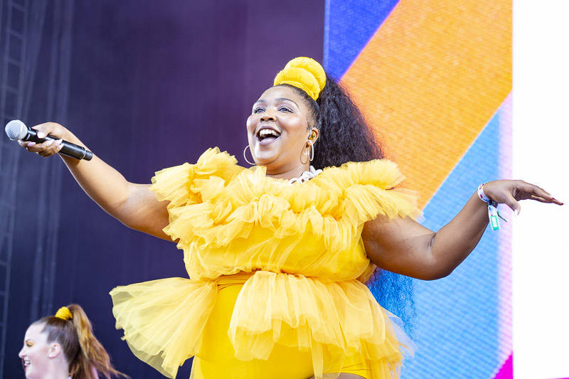 Lizzo performs at the at Outside Lands music festival in San Francisco, Aug. 11, 2018.