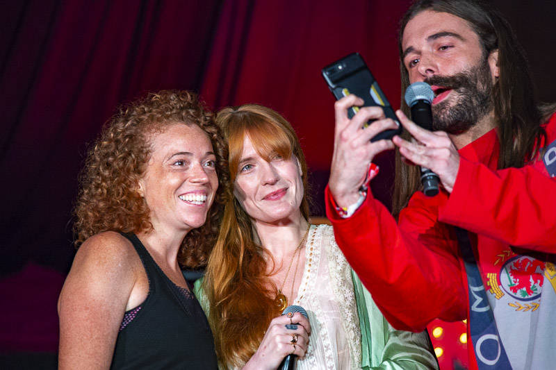 Jonathan Van Ness performs at The Barbary with special guest Florence Welch and Michelle Wolf at Outside Lands music festival in San Francisco, Aug. 11, 2018.