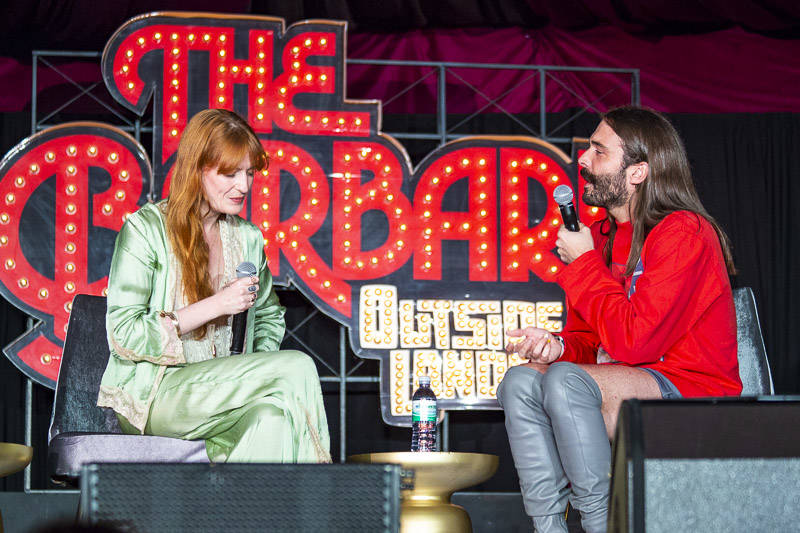Jonathan Van Ness performs at The Barbary with special guest Florence Welch at Outside Lands music festival in San Francisco, Aug. 11, 2018.