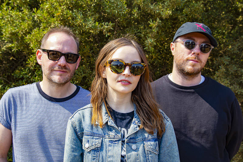 CHVRCHES performs at the at Outside Lands music festival in San Francisco, Aug. 11, 2018.