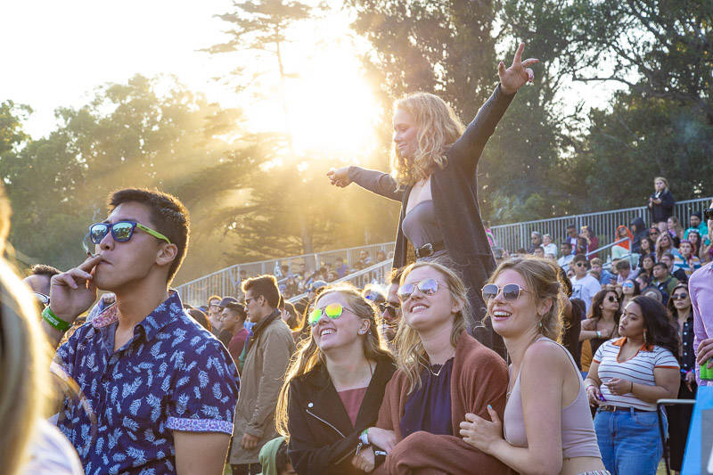 The crowd at the at Outside Lands music festival in San Francisco, Aug. 11, 2018.
