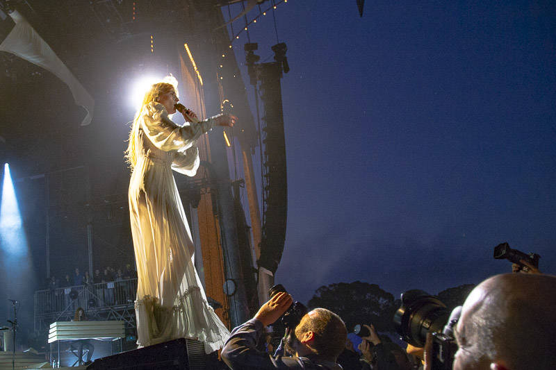 Florence and the Machine performs at the at Outside Lands music festival in San Francisco, Aug. 11, 2018.