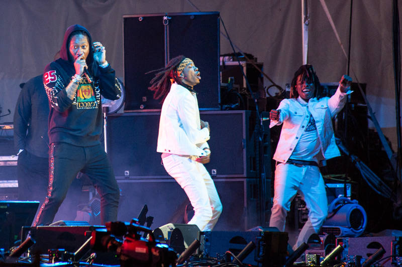 Future performs at the at Outside Lands music festival in San Francisco, Aug. 11, 2018.