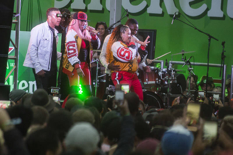 Salt N Pepa performs at the Outside Lands music festival in San Francisco, Aug. 12, 2018.