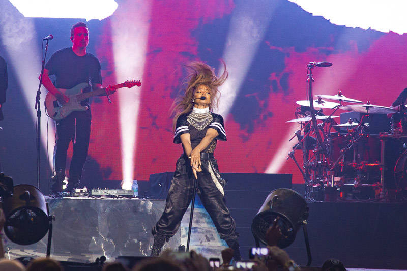 Janet Jackson performs at the Outside Lands music festival in San Francisco, Aug. 12, 2018.