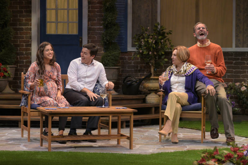 "It's all smiles and laughter before two couples get to know each other, really, in ""Native Gardens"" by Karen Zacarías presented by TheatreWorks Silicon Valley."
