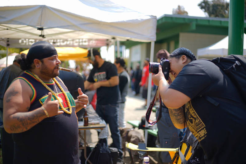 At the 'All My Usos' barbecue at Gilman Park in Bayview / Hunters Point.