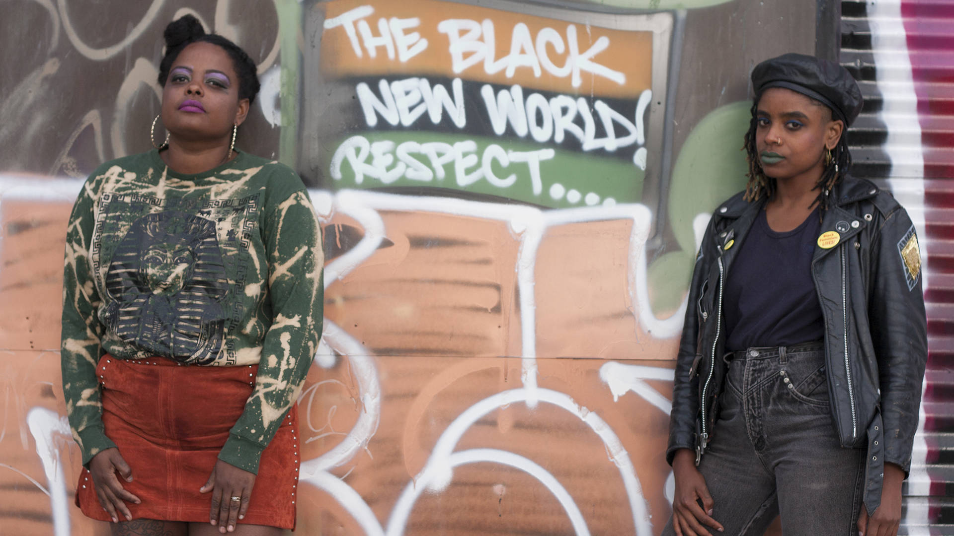Shawna Shante Scroggins (left) and Jade Ariana Fair envisioned The Multivrs is Illuminated as a way to celebrate black and brown punk and experimental musicians. Jeffie Freeman