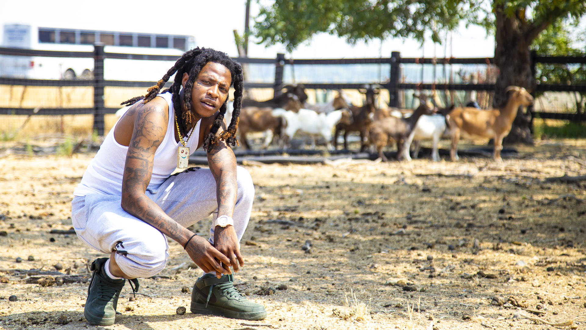 Among hay bales and baby goats, the Bay Area rap star discusses leaving Vallejo, police brutality and his new album, 'The Big Chang Theory.' Estefany Gonzalez