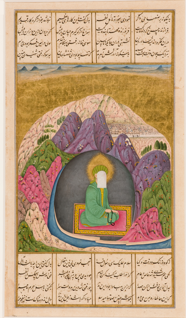 'The Prophet Muhammad in the cave of Hira,' 1720.