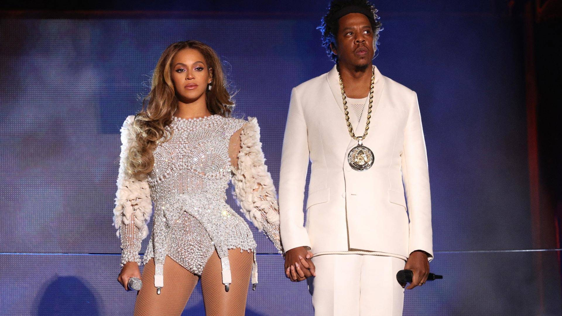 Beyonce and Jay-Z perform on the 'On The Run II' tour at Levi's Stadium on Sept. 29, 2018 in Santa Clara, California.  Raven Varona / Parkwood / PictureGroup