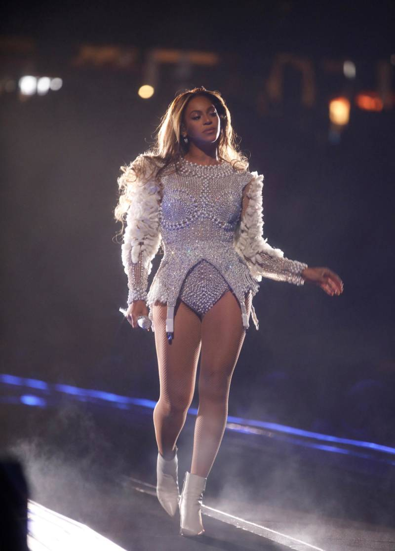 Beyoncé performs on the 'On The Run II' tour at Levi's Stadium on Sept. 29, 2018 in Santa Clara, California.