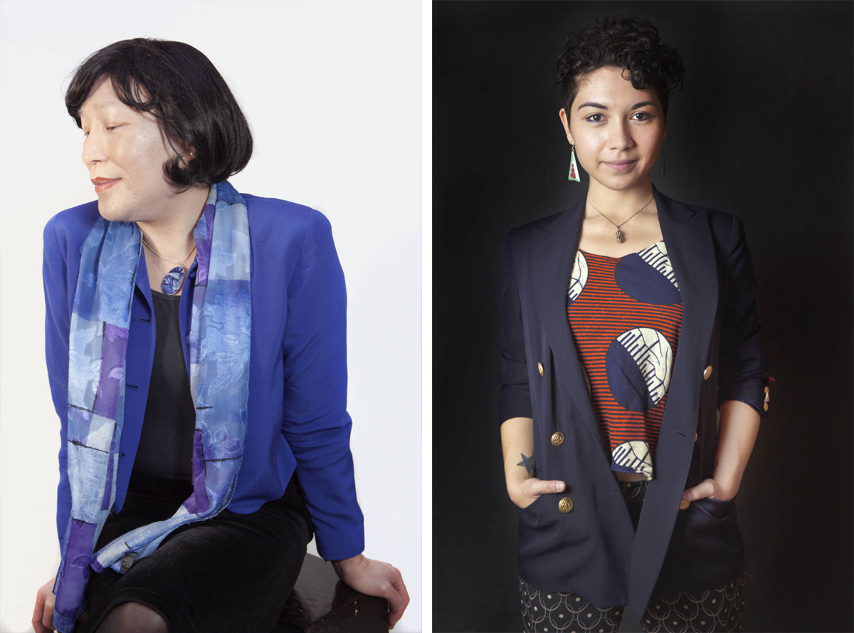 Photographs by Mia Nakano for the Visibility Project, L: Pauline Park of New York; R: Lokeilani Kaimana of Austin.