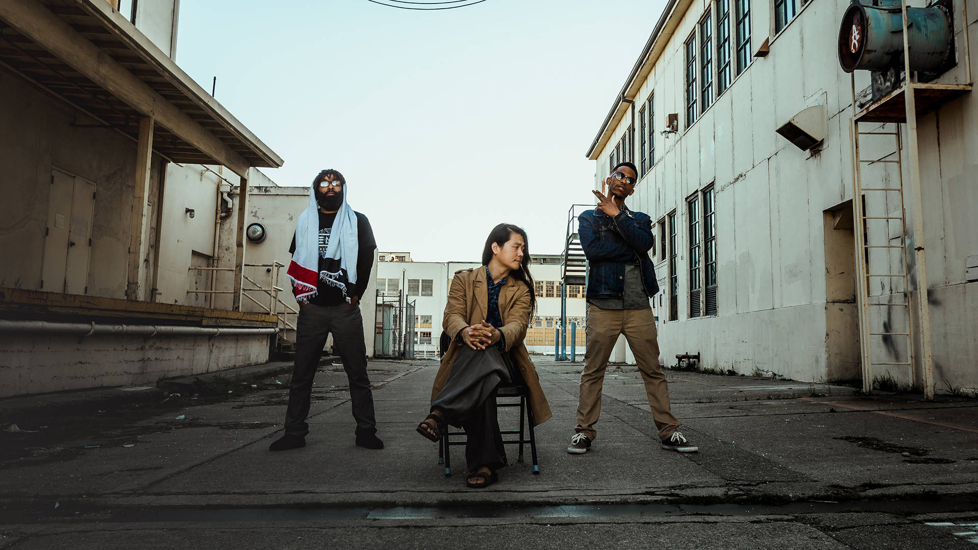Led by composer JooWan Kim (center), Oakland hip-hop orchestra Ensemble Mik Nawooj composed the theme song for this year's United Nations Global People's Summit.  Matthew Evearitt