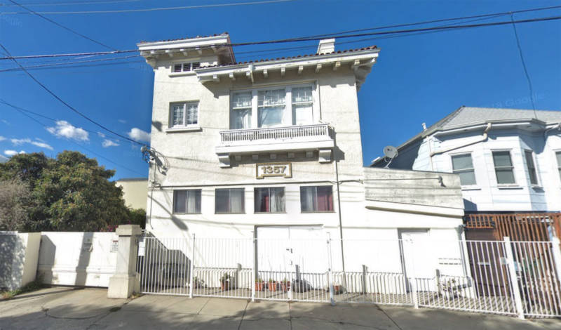 A former firehouse, 1357 93rd Avenue in Oakland is now a multi-unit dwelling, including the apartment and studio of Robert Gill.