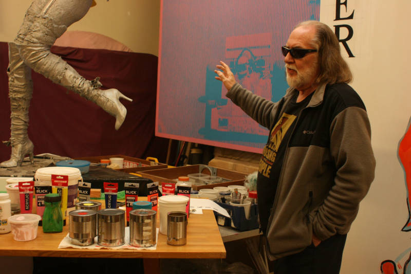 Robert Gill inside his East Oakland studio.