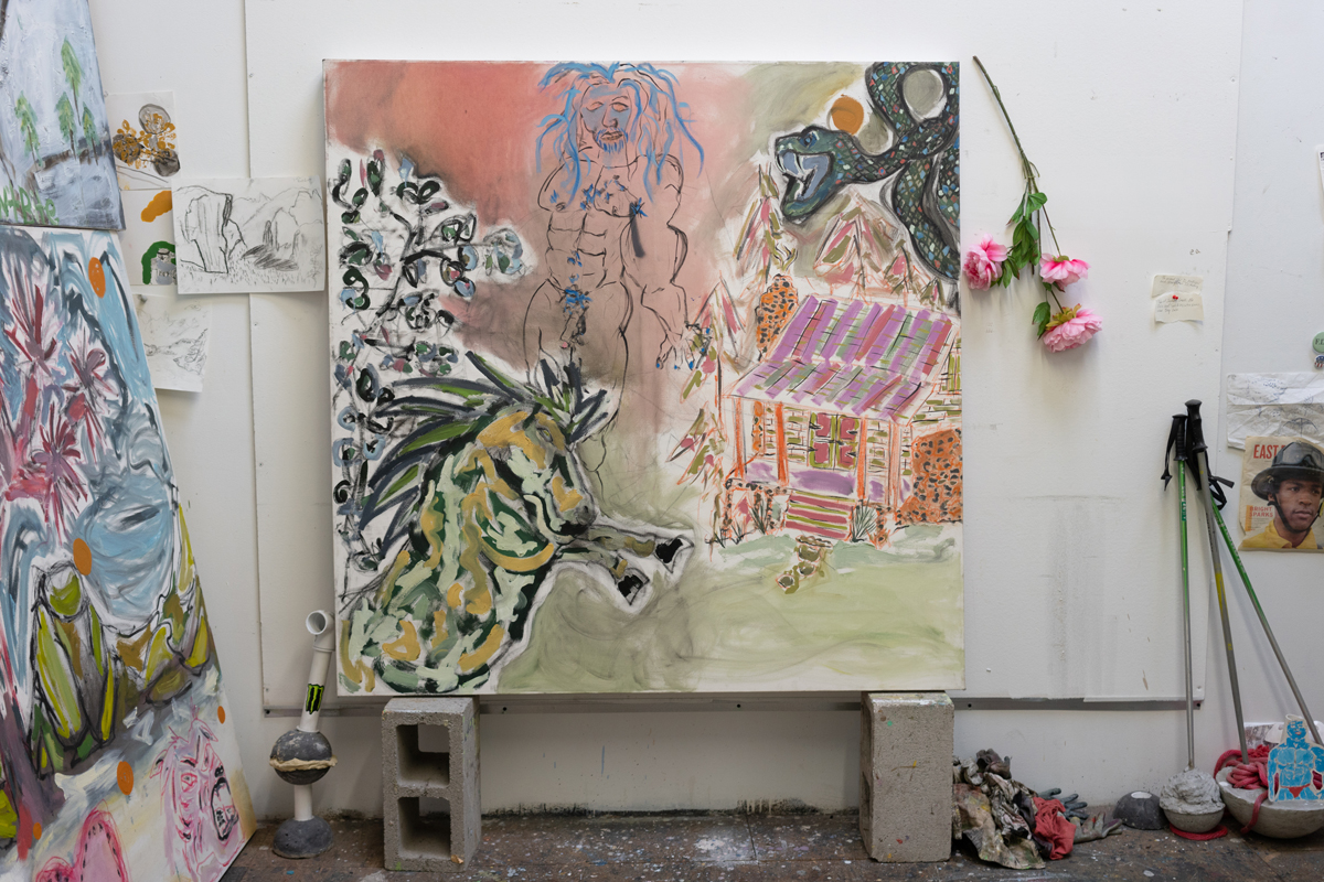 'Monster on a Country Road,' 2018 in Thorne's Oakland studio.