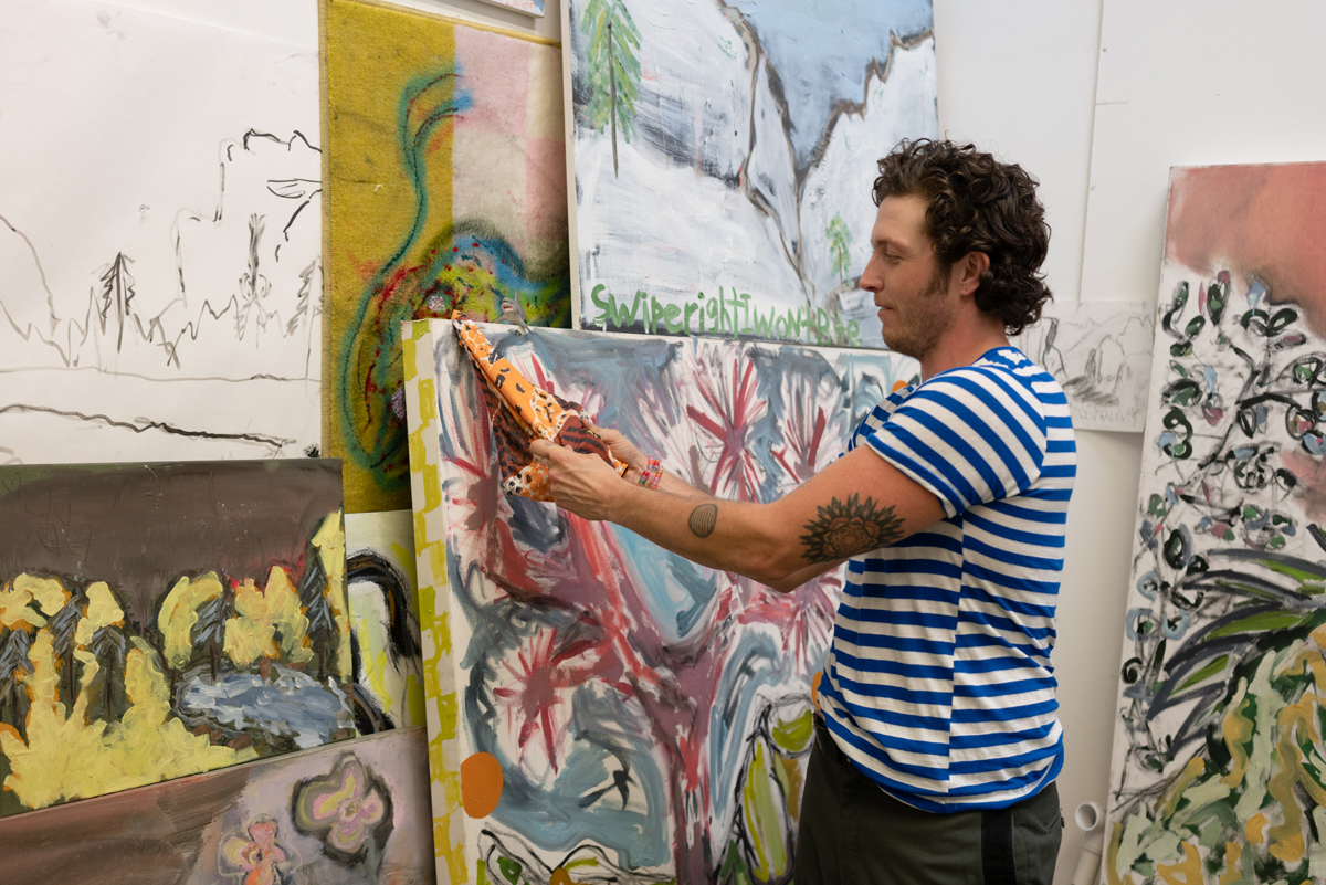 Eli Thorne in his Oakland studio.