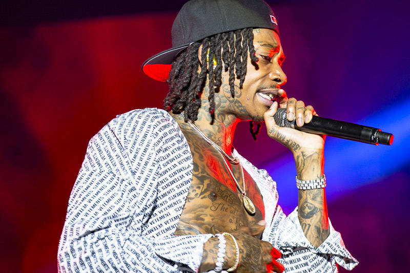 Wiz Khalifa plays Rolling Loud Bay Area in Oakland on Saturday, September 15, 2018.