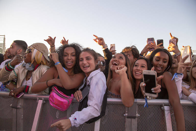 The crowd during Rolling Loud Bay Area on Sunday, September 16, 2018.