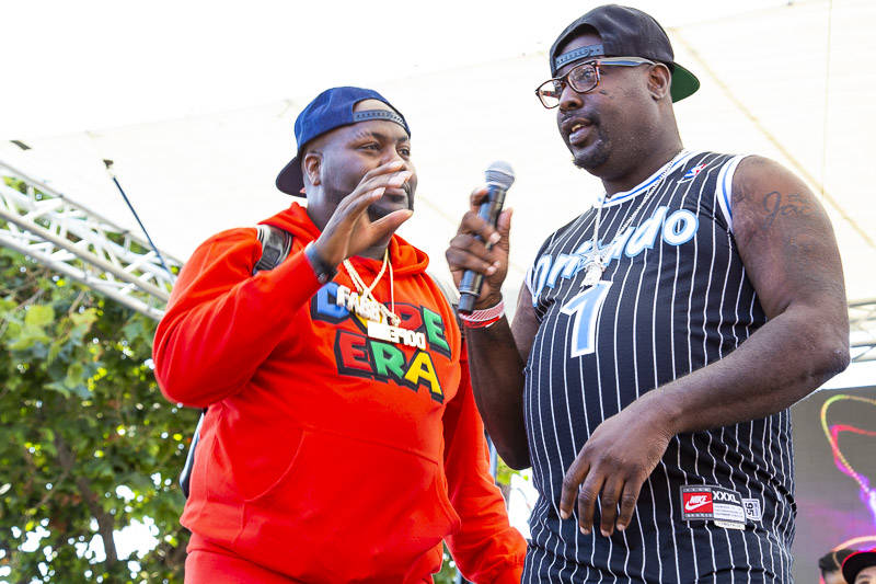 Mistah F.A.B and Kenzie Smith at Hiero Day in Oakland on Monday, September 3, 2018.