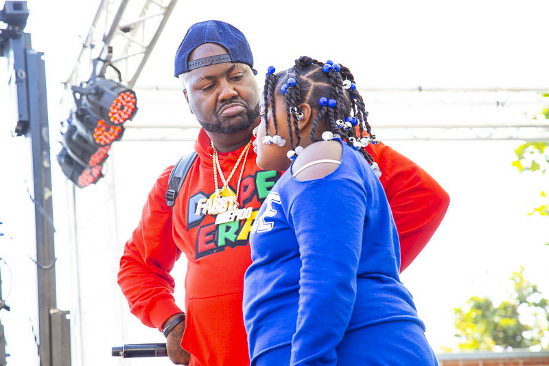 Mistah F.A.B and his daughter Libby at Hiero Day in Oakland on Monday, September 3, 2018.