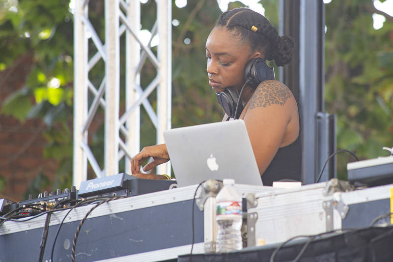 DJ Red Corvette plays Hiero Day in Oakland on Monday, September 3, 2018.