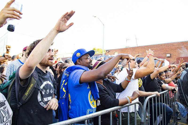 The crowd at Hiero Day in Oakland on Monday, September 3, 2018.