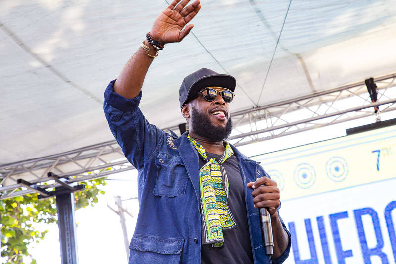 Talib Kweli plays Hiero Day in Oakland on Monday, September 3, 2018.