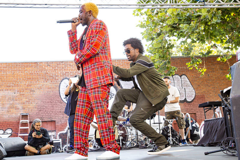 The Pharcyde plays Hiero Day in Oakland on Monday, September 3, 2018.
